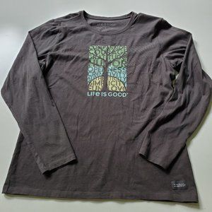 EUC | L | LIFE IS GOOD | TREE FUN LOVE TEE tshirt
